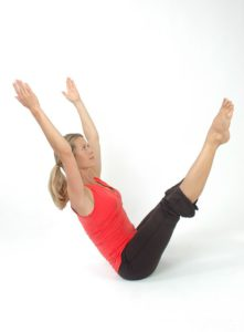 Boat pose in yoga routine for weight loss