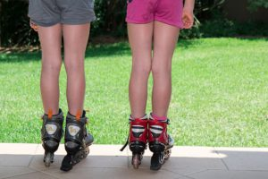 Best way to exercise with kids using roller skates