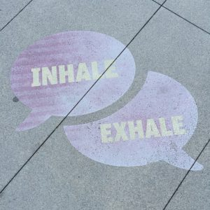 Inhale and exhale when doing yoga poses