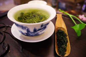 Green tea has caffeine, which increases calorie burning.