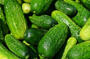 The cucumber is a strong alkaline food
