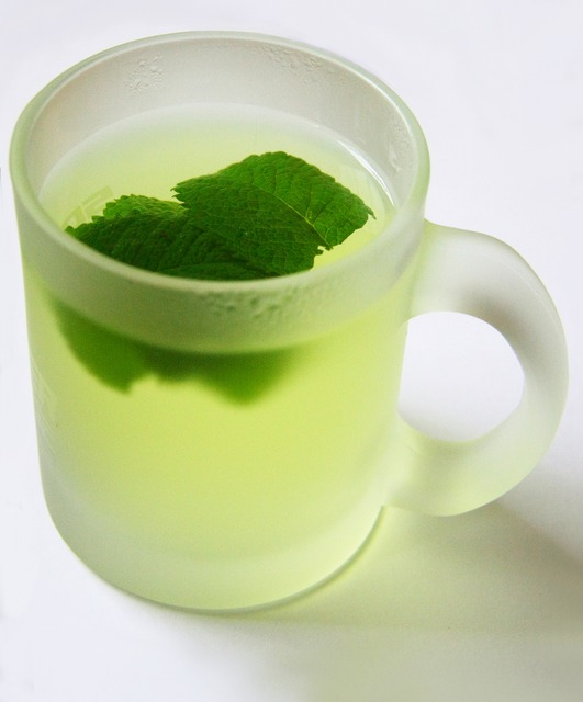 Drink mint tea before meal